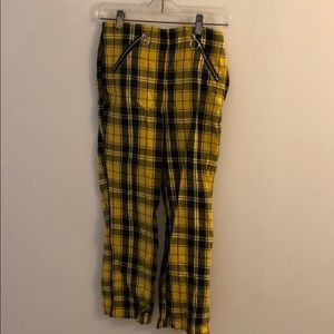 Forever 21 yellow and black gingham straight pant